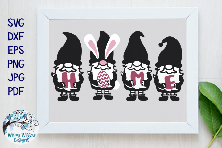 Easter Gnomes Home Sign SVG | Gnomes Easter Egg SVG