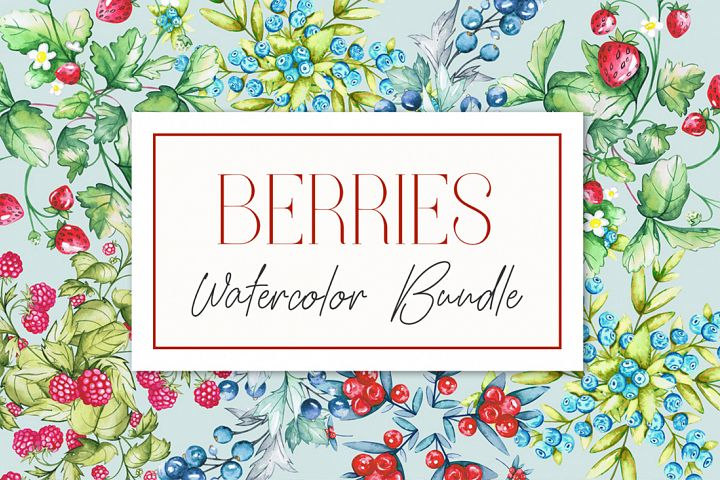 Berries Watercolor Bundle