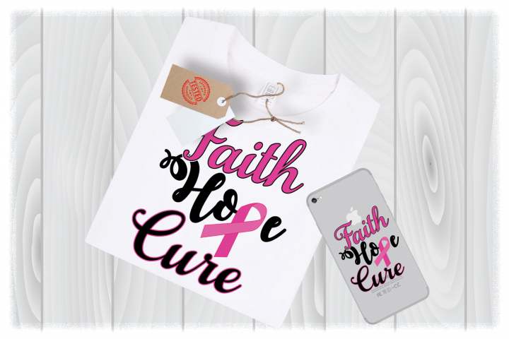Faith Hope Cure Svg Files for Cricut Designs | Cancer SVG