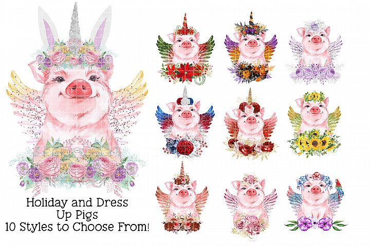 Sublimation Holiday Pigs