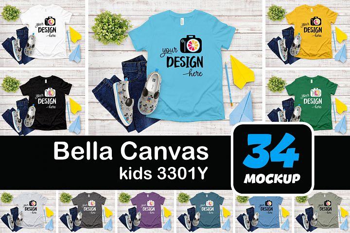 Bella Canvas T-Shirt 3001Y kids Boy style