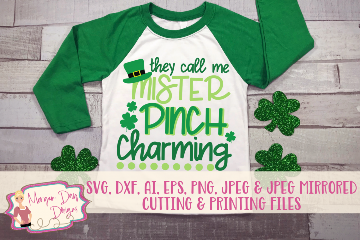 Pinch Charming - St Patricks Day SVG, DXF, AI, EPS, PNG