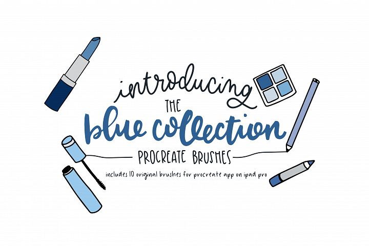 The Blue Collection - Procreate Brushes