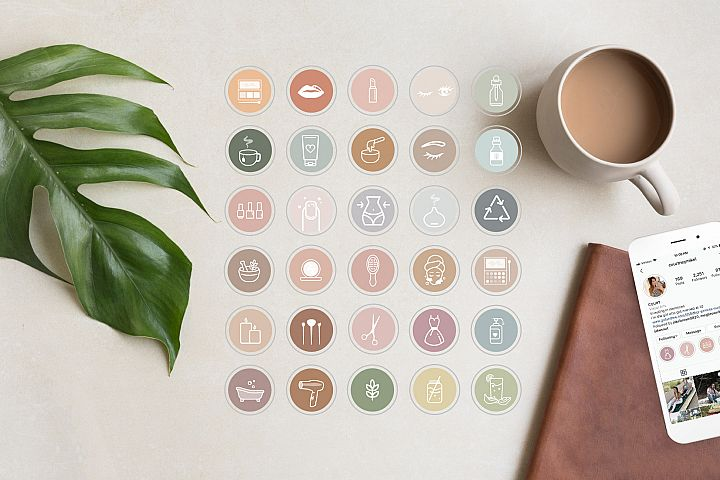 Health and Beauty Highlight Icons for Instagram