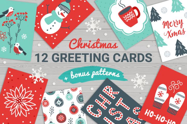 12 Christmas Cards & Bonus Patterns