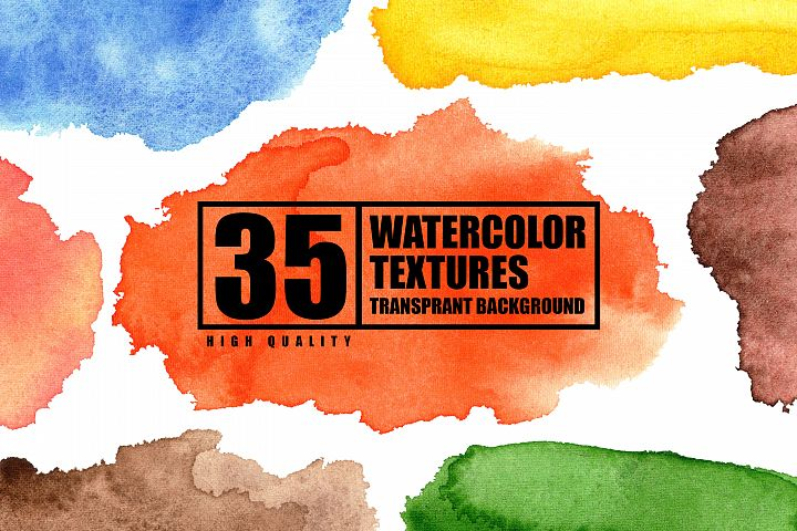 Hand painted watercolor texture clip art