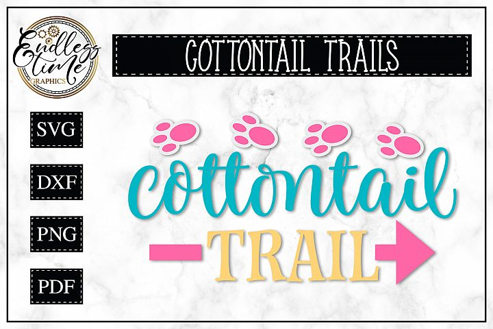 Cottontail Trails - A Fun Easter SVG Design