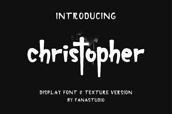 christopher-display font and texture version