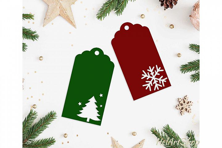 Christmas gift tags svg cutting file