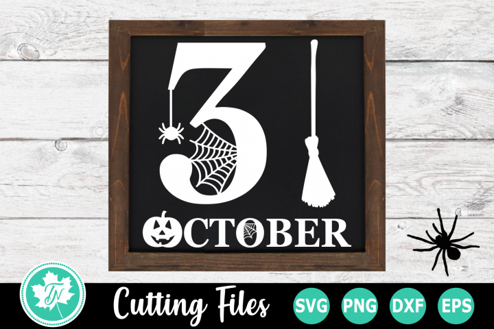 31 October - A Halloween SVG Cut File