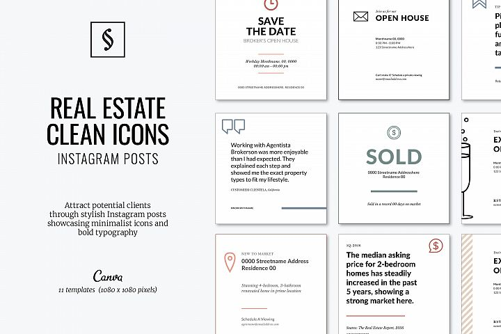 Canva Instagram Posts for Real Estate - Icons