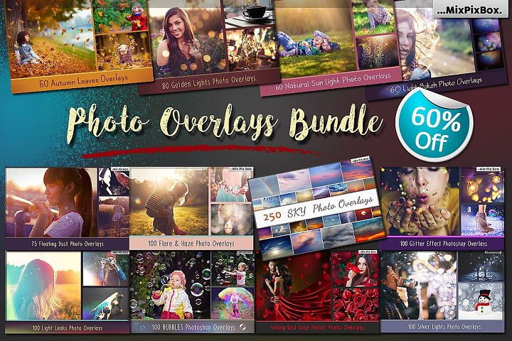 900 Photo Overlays Bundle
