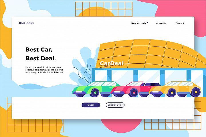 Car Dealership - Banner & Landing
