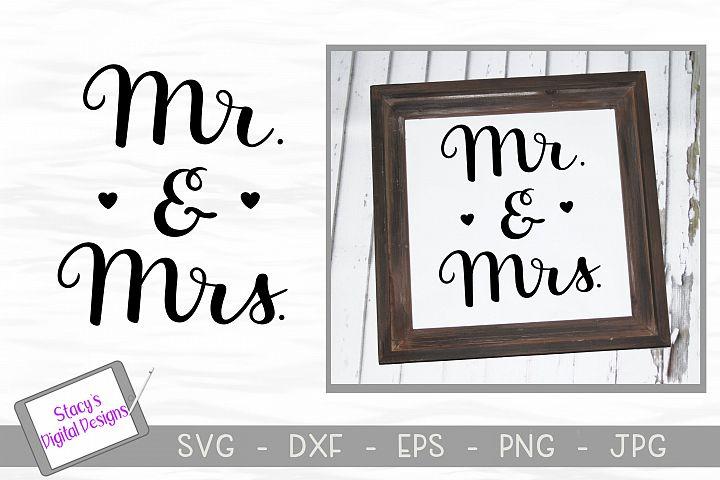 Mr. and Mrs. SVG - handlettered wedding svg