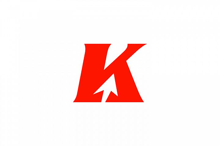 k letter arrow logo
