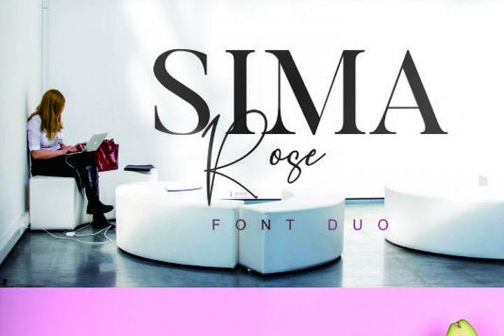 Sima Rose Font Duo