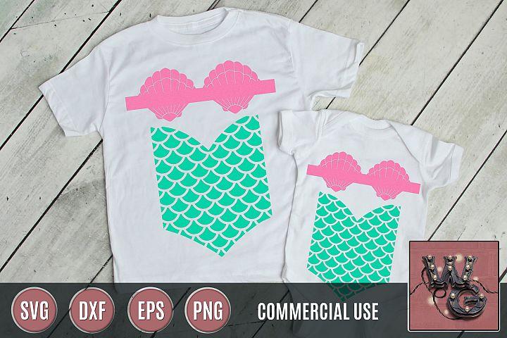 Mermaid Design SVG DXF PNG EPS Comm