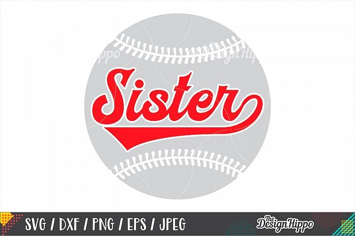 Baseball Sister SVG PNG DXF EPS Cutting Files