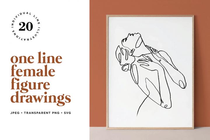 Abstract Female Figure Line Art