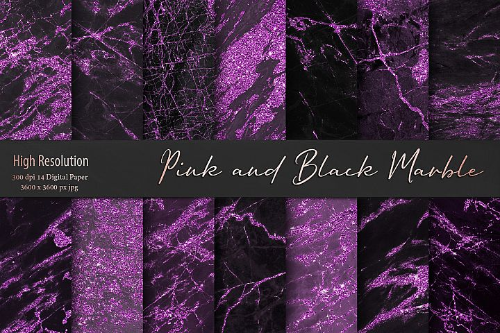 Pink and Black Marble Textures