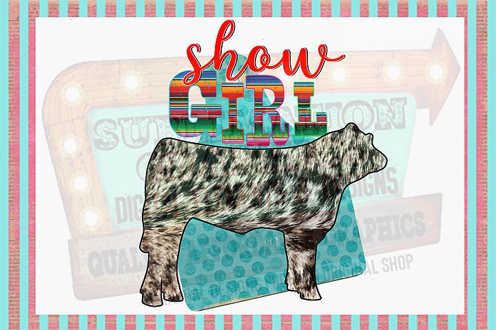 Show Steer Girl Sublimation Digital Download