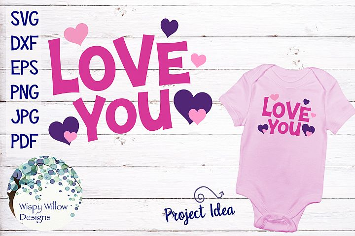 Love You| Valentine SVG