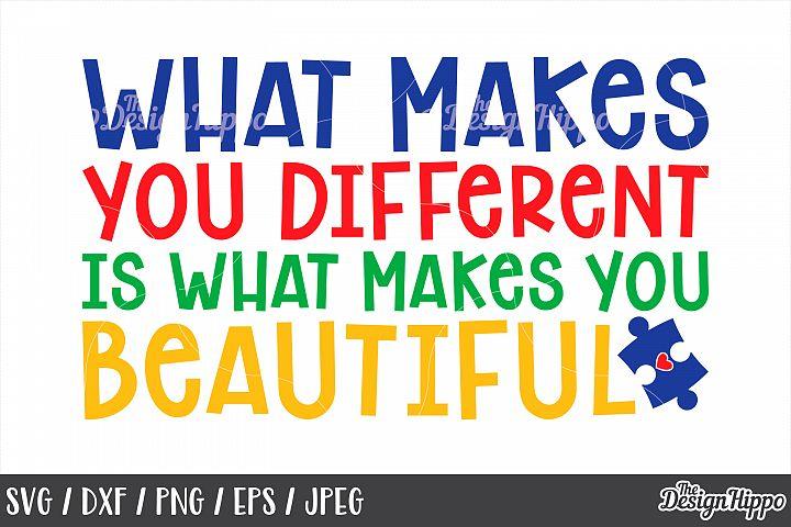 Autism Awareness, Inspirational Quote, Saying, SVG PNG DXF