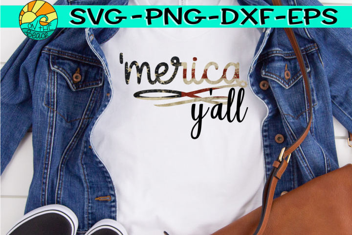 Merica Yall - SVG - PNG - EPS - DXF