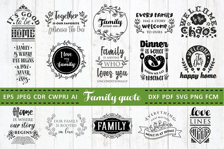 Love Family Quotes. SVG bundle. Vol. 2