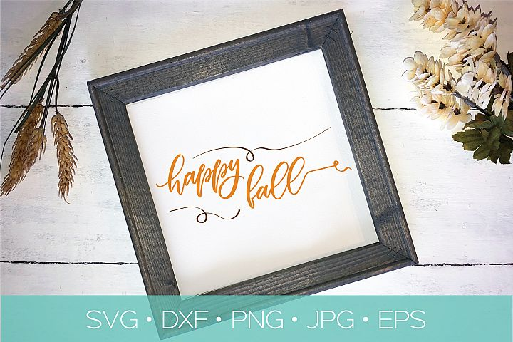 Happy Fall SVG | Fall Thanksgiving SVG Cut File