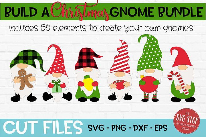 Build a Christmas Gnome Bundle SVG, PNG, DXF, EPS