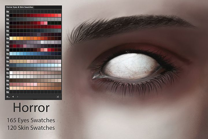 Horror Eyes & Skin Ai Swatches