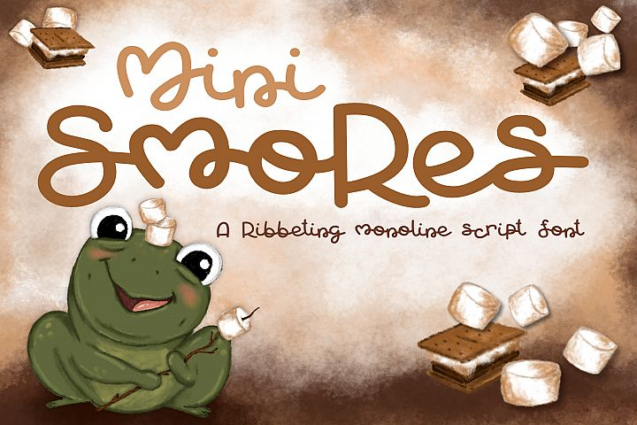Mini Smores | A ribbeting monoline script font