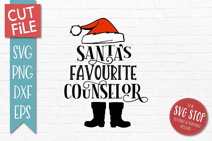 Santas Favourite Custodian SVG, PNG, DXF, EPS