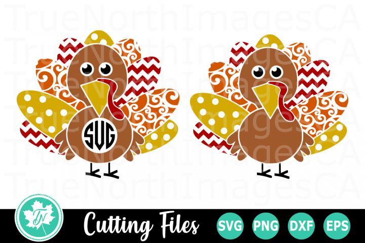 Fancy Turkey Monogram - A Fall SVG Cut File