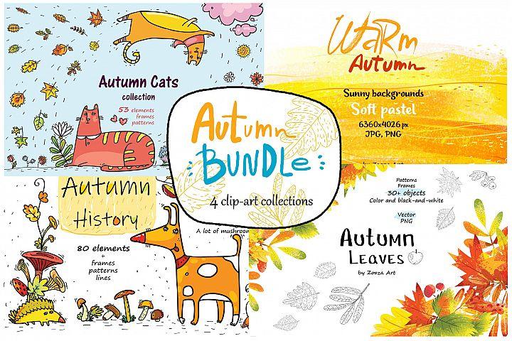Autumn Bundle - clip-art, patterns, illustrations