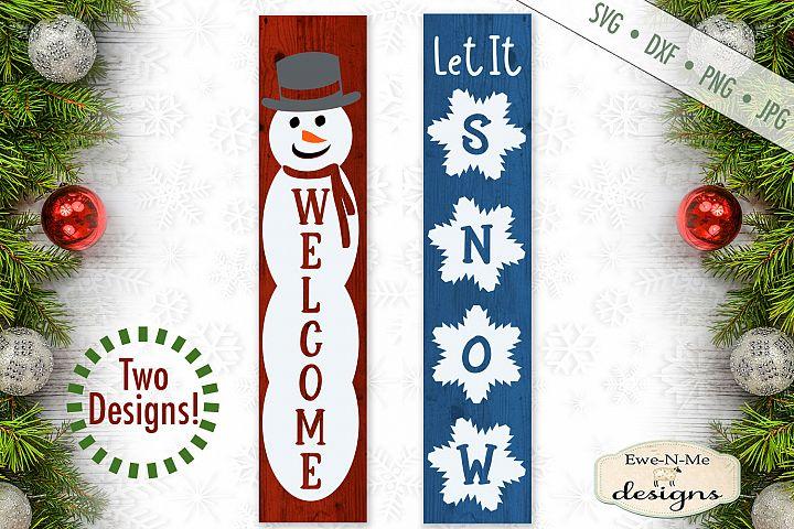 Welcome Snowman - Let It Snow - Vertical SVG