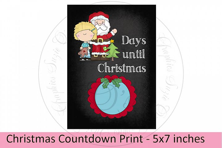 Christmas Countdown Print 5 x 7