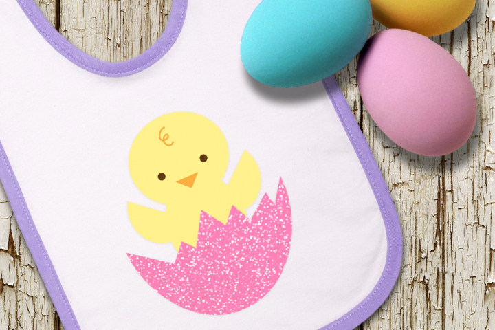 Easter Chick in Cracked Egg SVG File Cutting Template