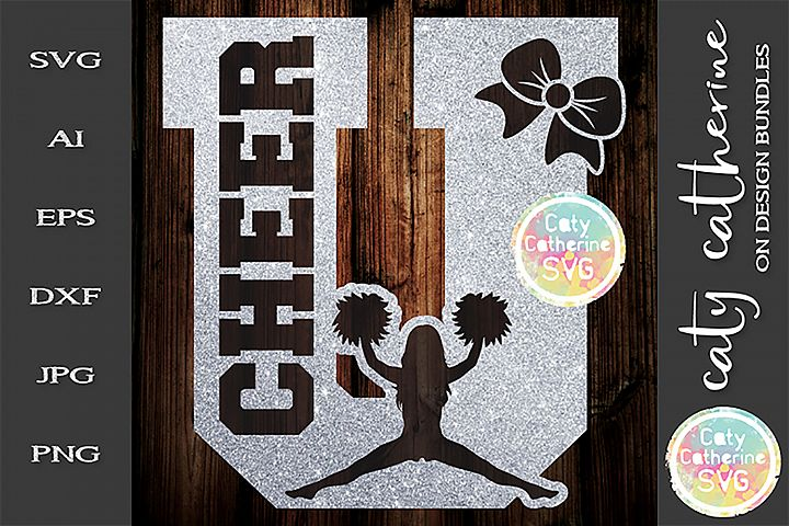 Letter U Cheerleading Monogram Letters SVG Cut File
