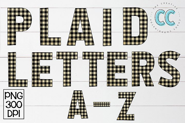 Plaid Alphabet