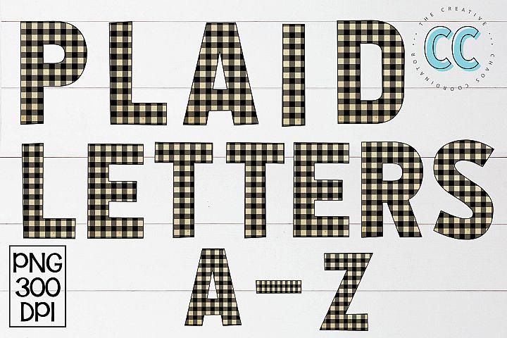 Plaid Alphabet
