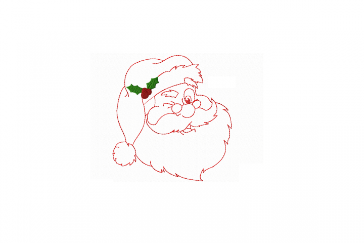 Redwork Santa Clause in 3 sizes