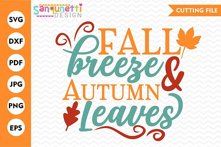 Fall breeze and autumn leaves SVG