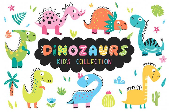 Dinosaurs - kids collection.