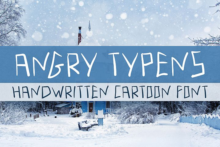 Angry Typens - Handwritten Font