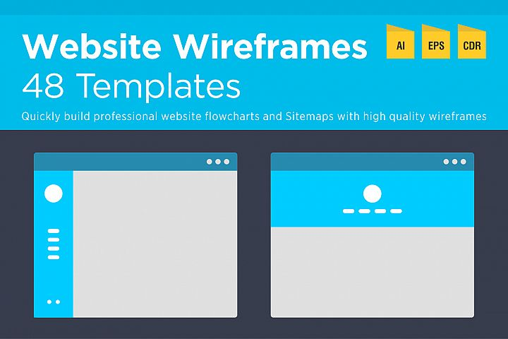48 Website Wireframes and Flowchart