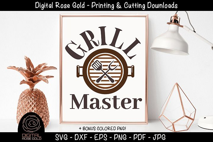 Grill Master - Funny Grilling BBQ SVG, Barbecue Printable