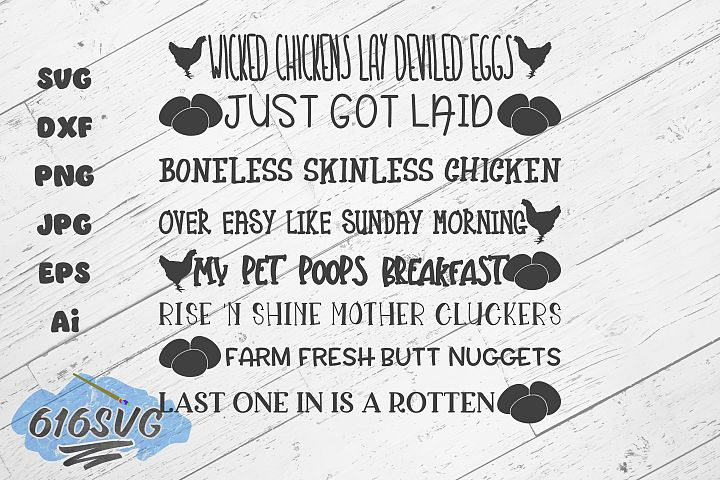 8 Egg Container Sayings Version 1
