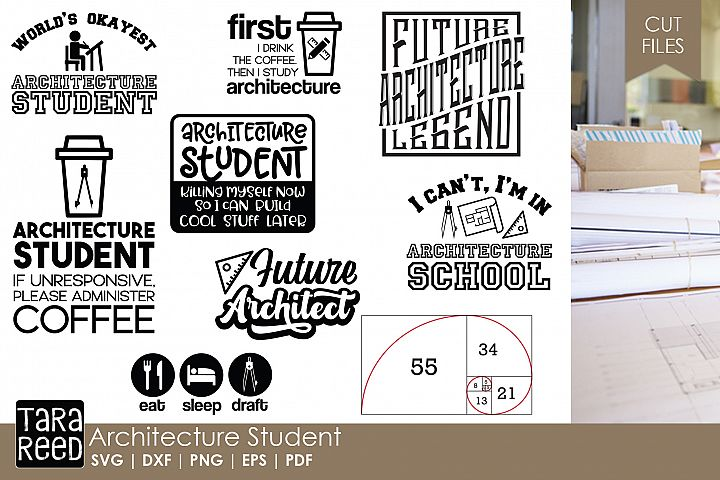 Architecture Student - Architect SVG and Cut Files for Craft